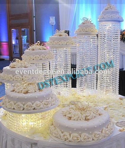 New Product ! Acrylic Crystal Chandelier Wedding Cake Stand ...