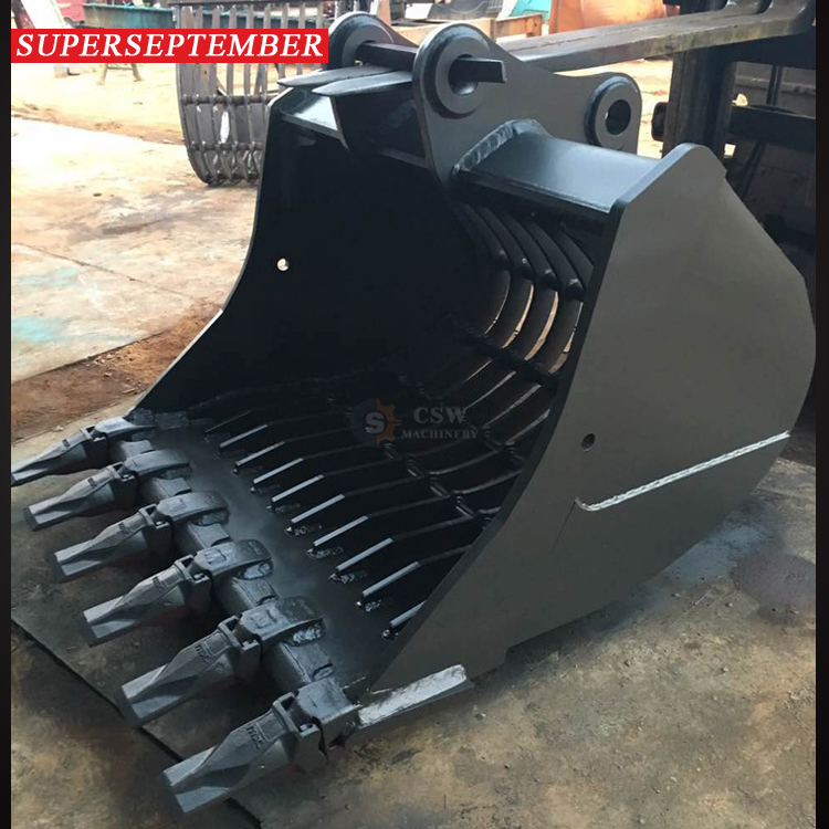 Super september rock excavator skeleton bucket for komatsu PC200 PC230 SK250 EX240