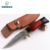 Damascus Fixed blade steel leather sheath handmade hunting knife