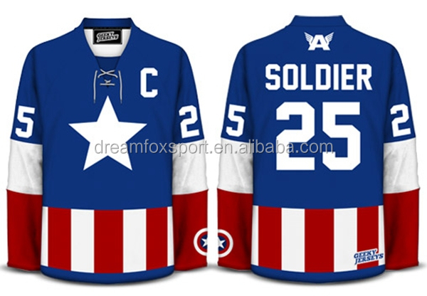 c1f2f2e5324 New Design Custom Sublimated Sports Ice Hockey Shirts