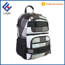 Multifunction teenagers sports back pack outdoor, two front straps school customize skateboard backpack with chest belt