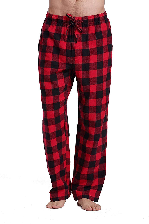 Get Quotations · Feng Huang Pajama Pants - Men s 100% Cotton Super Soft  Flannel Plaid Pajama Pants 741a02026