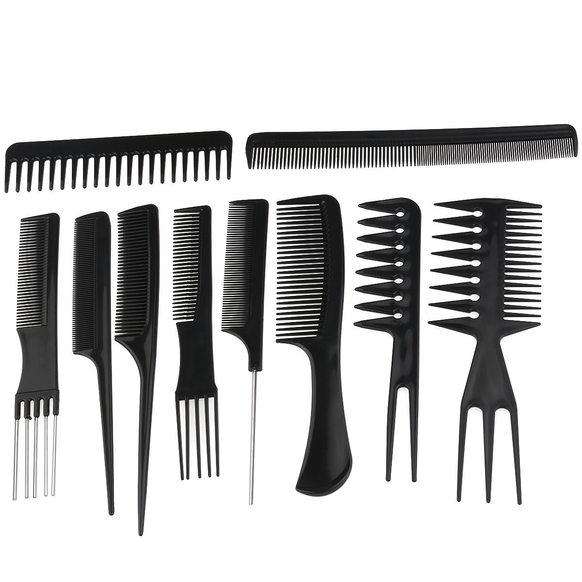 Rosenice Professional Salon Hair Styling Combs Hairdresser Accessories Tools Set 10 Pieces