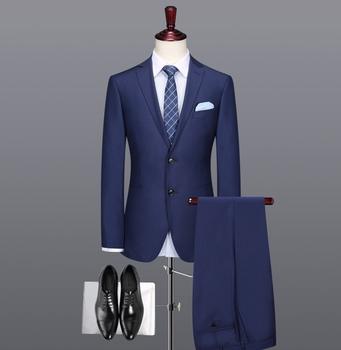 6c76db94ec08b Venta al por mayor del OEM personalizado traje de moda azul oscuro Formal trajes  para hombres