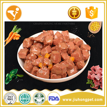 Wholesale pet products beef chunk wet dog food snack