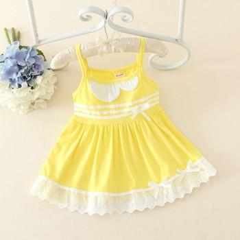 1c7d737ca Las Niñas Amarillo Vestido