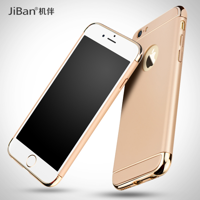 3 in 1 Hybrid Fashion High Quality Frosted Plating Hard PC Phone Case for iPhone 6 iPhone 6s plus
