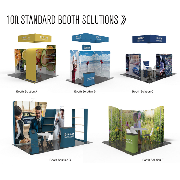 Easy setup custom design exhibition expo booth 3x3 standard exhibition stall