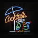 Factory price black panel cocktail custom led neon beer bar light signs china suppliers