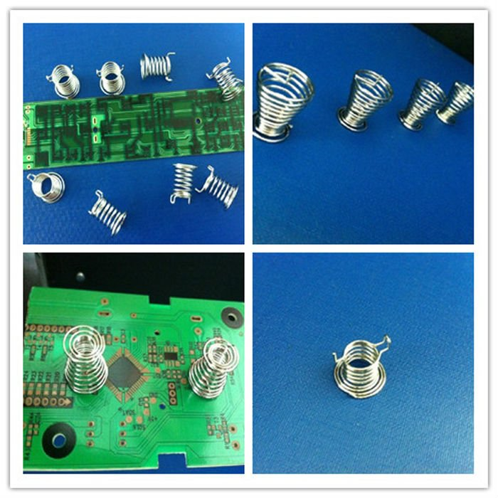 Customized Stainless Steell plated touch panel switch button spring