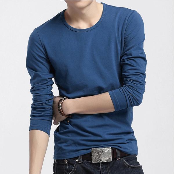 Cotton Inner Long Sleeve Tight Fit T Shirt Slim Fit Men - Buy ...