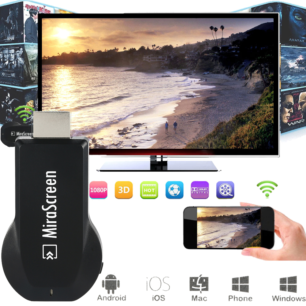 OTA <strong>TV</strong> <strong>Stick</strong> Android Smart <strong>TV</strong> <strong>Dongle</strong> EasyCast Wireless Receiver DLNA Airplay Miracast Airmirroring Chromecast MiraScreen