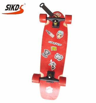 27*8.0 inch 7 ply chinese maple skateboard single kick cruiser skateboard sticker