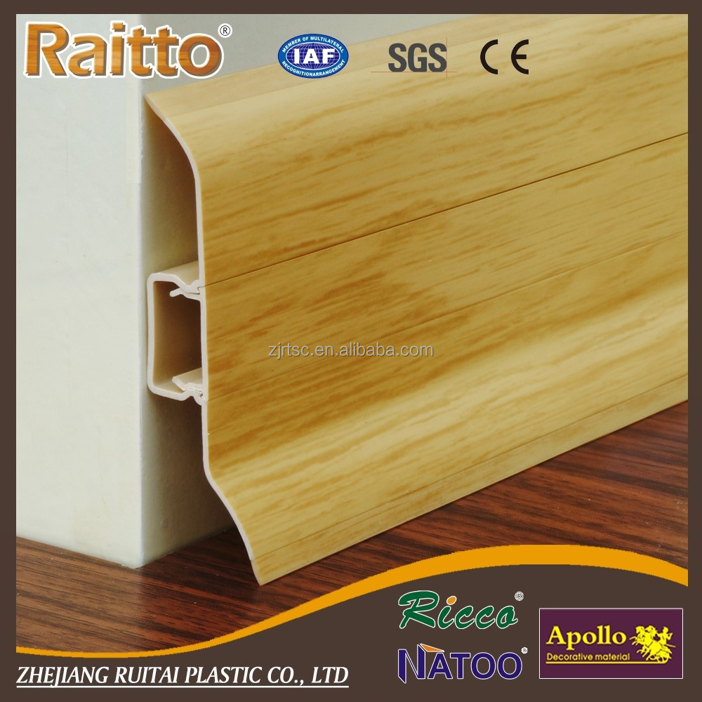 Factory Wholesale Plastic Underlay Skirting Board