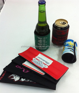 with leaf spring neoprene can cooler,can stubby holder,beer can wrap