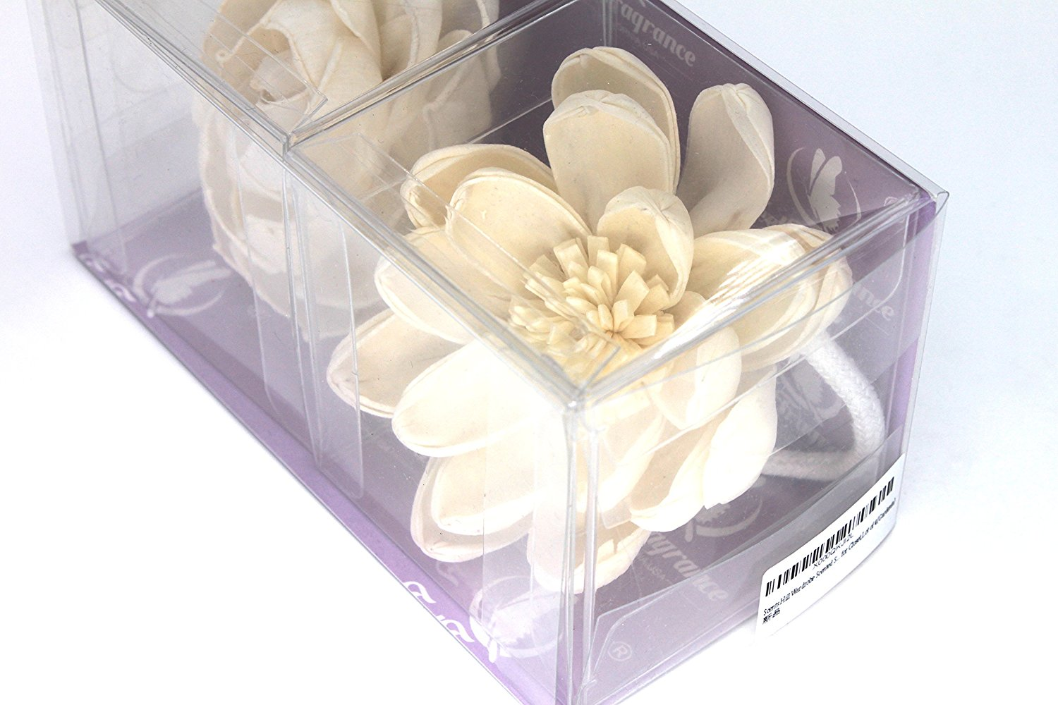 "Feel Fragrance Sola Wood Flower with Cotton Wire Wick 3.9"" Diameter,(Lotus C)"