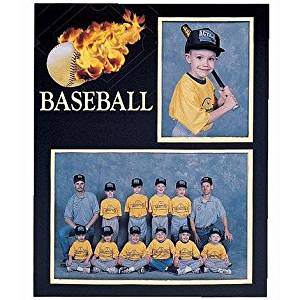 Baseball Player/Team 7x5/3.50x5 MEMORY MATES cardstock double photo frame sold in 10's - 5x7