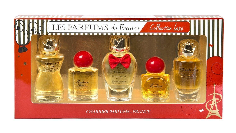 Charrier Parfums - Charrier Parfums- Les Parfums de France- 5 Eaux de Parfum Gift Set - Luxe Collection - Red