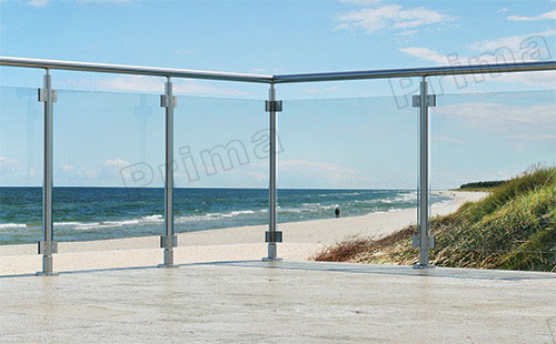 Construction Aluminum Base Channel Glass Balustrade For Balcony ...