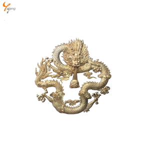 wall decor hand forging metal dragon sculpture