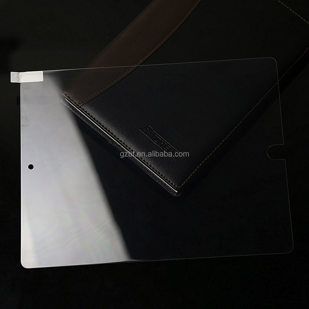 Anti-static UV light tempered glass tablet screen protect flim for pad pro 9.7'