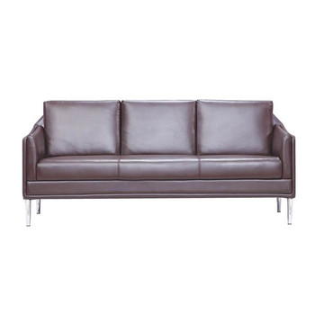 Brown Color Kuka Leather Office Sofa Sf161 Dubai Furniture