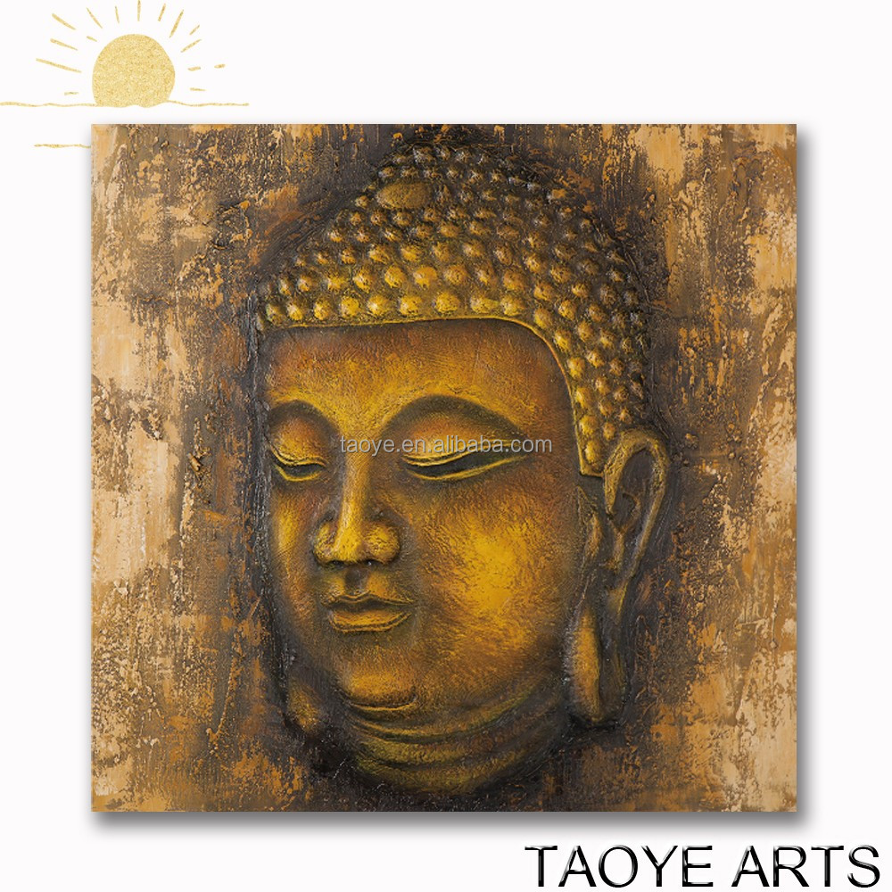 hot selling Buddha impressionist wall art oil painting on canvas