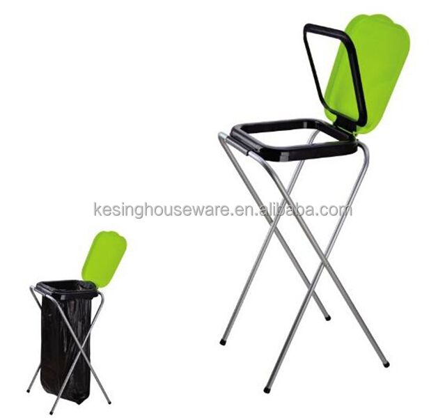 Folding Portable Hotel 4 Legs Trash Bag Holder