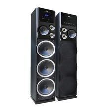 High power wooden 2.0 Active hi fi tower stage speaker for home theatre SA-10-8B