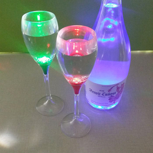 Wedding Decoration Flashing Plastic Liquid Active LED Champagne Glass