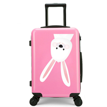 Professional manufacturers black and pink luggage suitcase