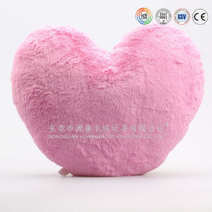 Soft comfortable plush pink heart pillow