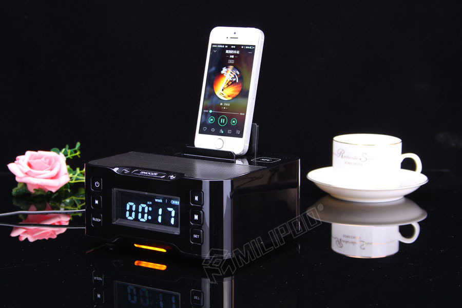 Bluetooth Radio Speaker Dock Station Alarm Clock Nfc Wireless ...