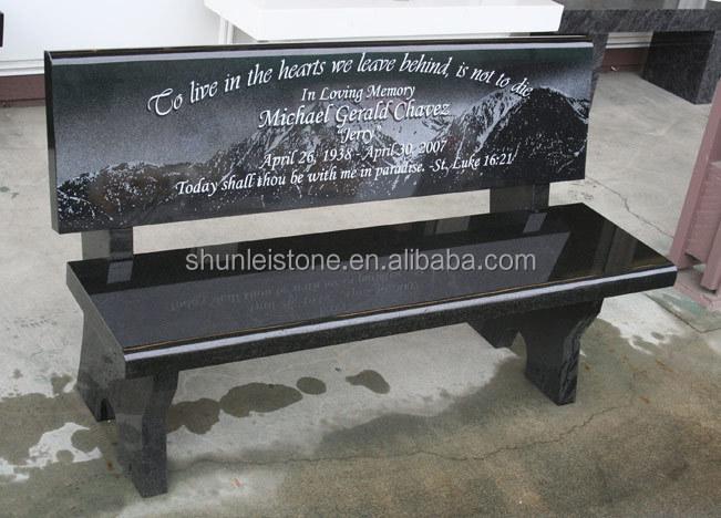 Marble Memorial Benches Buy Granite Memorial Bench Black