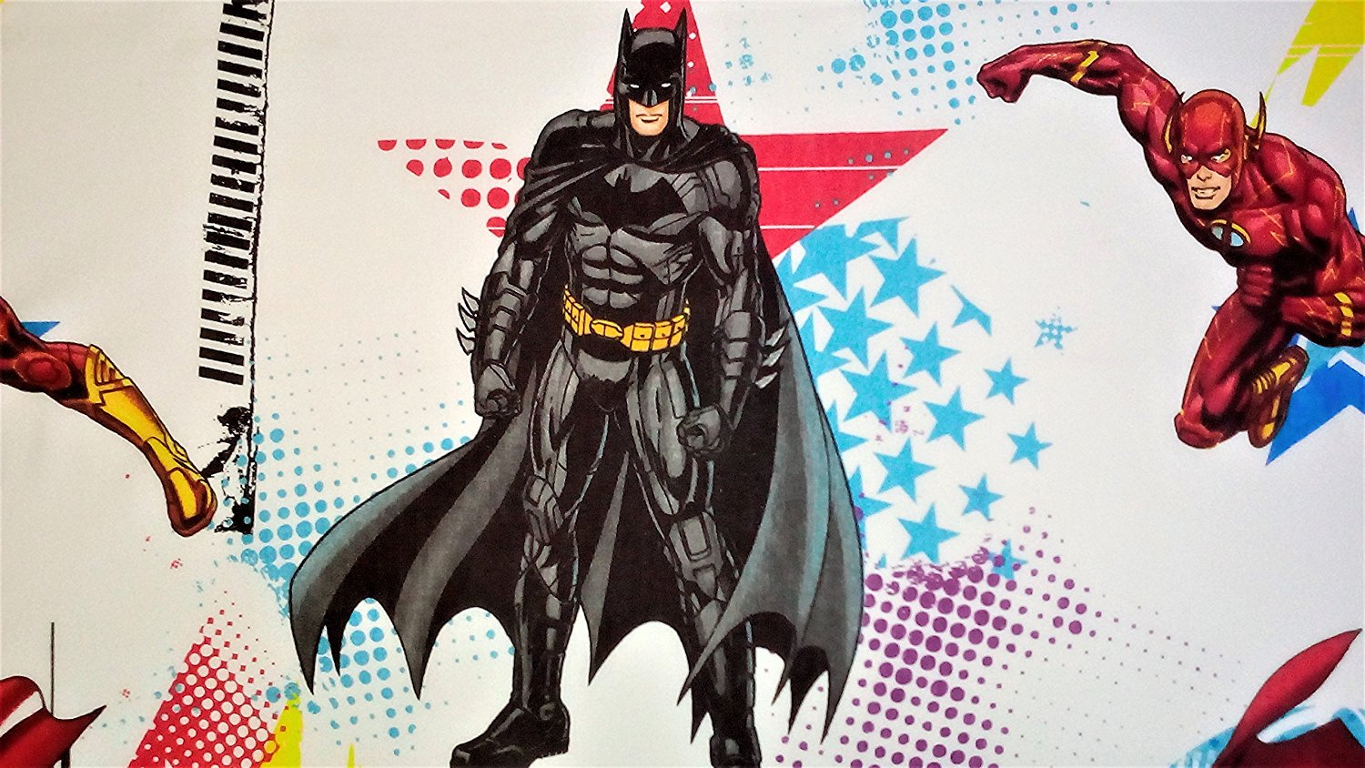 8163296e40 Get Quotations · League Of Heroes Justice League 60% Cotton (FLAT SHEET  ONLY) Size TWIN Boys