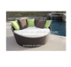 Rattan Chaise Lounge Modern Beach sun bed Rattan Round Bed
