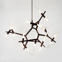 G9 aluminum glass hanging ceiling pendant lighting