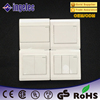 Bulk light DP home electrical lamp modular shape wall switch,european type modular wall MK switch