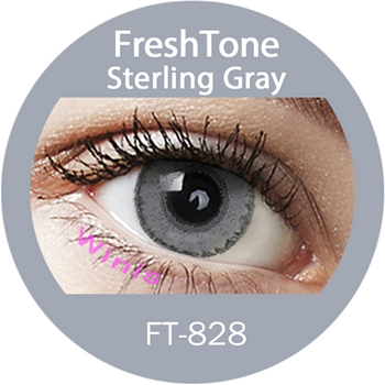 1 Month Freshtone Natural Looking Sterling Gray Color Contact Lens Korea Lenses Whole