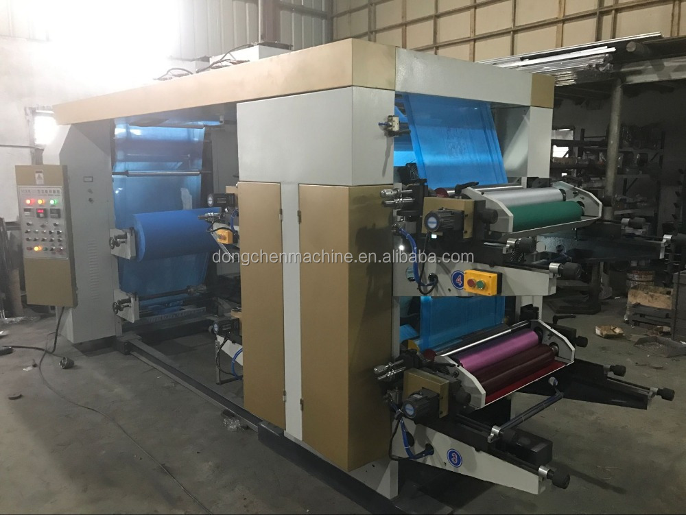 4 colors Non Woven or woven sack roll Flexo Printing Machine