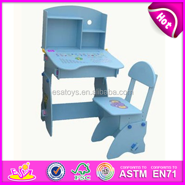 wooden kids desk and chairs with magnetic board,wooden toy cheap