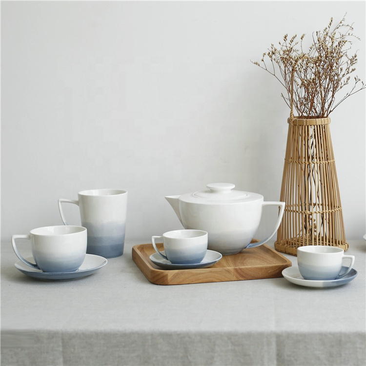 Wholesale 4 cup saucer japanese style ceramic coffee <strong>tea</strong> <strong>set</strong> for home , restaurant