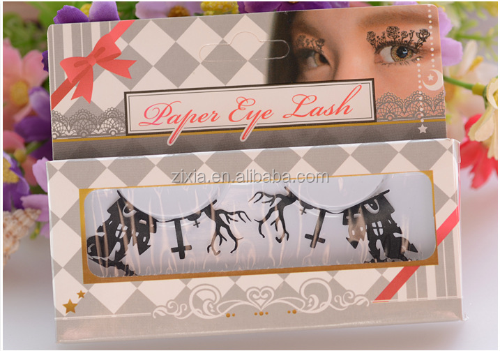 2018 New Private Lable Paper Lashes Lace Garden Paper False Eyelashes Small Garden PAPER CUTTING LASHES