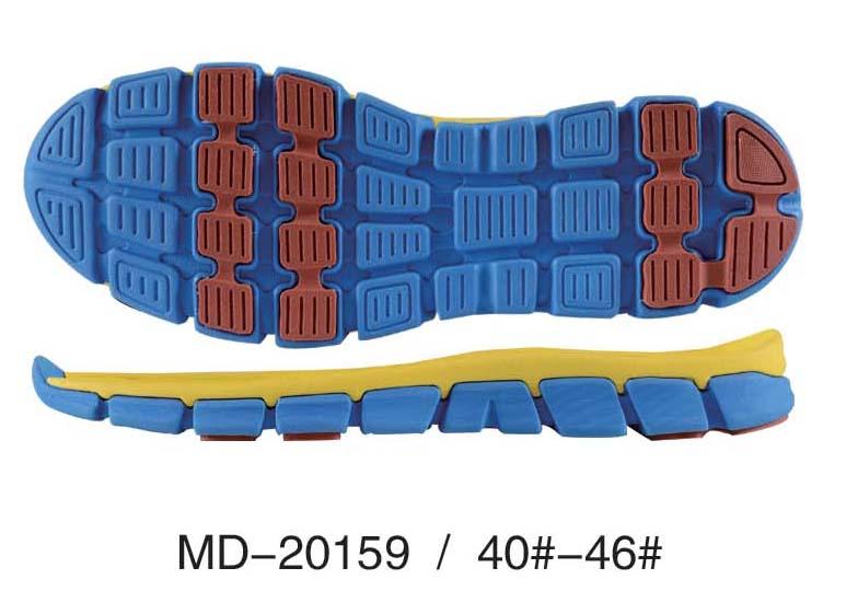 Dual Density Sports Shoe Sole Design Eva Pattern Shoe Soles