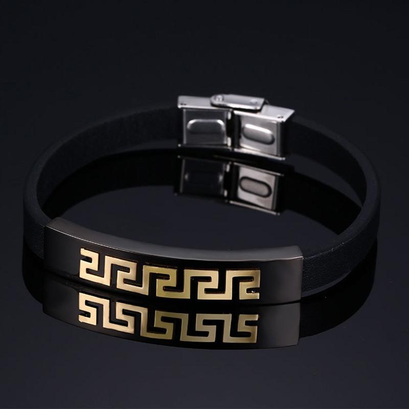 Плетеный греческий браслет