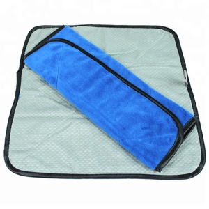 New style 40x40cm one side plush fiber microfiber wax polish towel car cleaning one side waffle weave microfiber drying towels