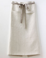 High Quality OEM Cheap Wholesale half apron adult waist aprons free sample linen/cotton waist aprons