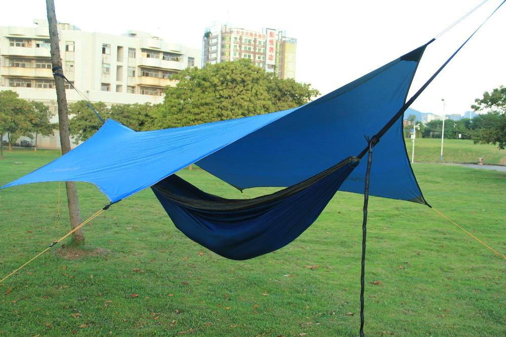 360*320CM Portable Lightweight Water Resistant Rain Tarp Tent Tarp Shelter with Guyline Kits Carry & 360*320cm Portable Lightweight Water Resistant Rain Tarp Tent Tarp ...
