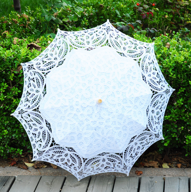 Hot Sale Cotton Outdoor Simple Romantic Lace Wedding Umbrella Paper Parasols Buy Lace Wedding Umbrella Sun Umbrella Outdoor Paper Parasols Product