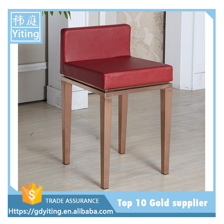 New design Popular gold bar stools for jewelry store